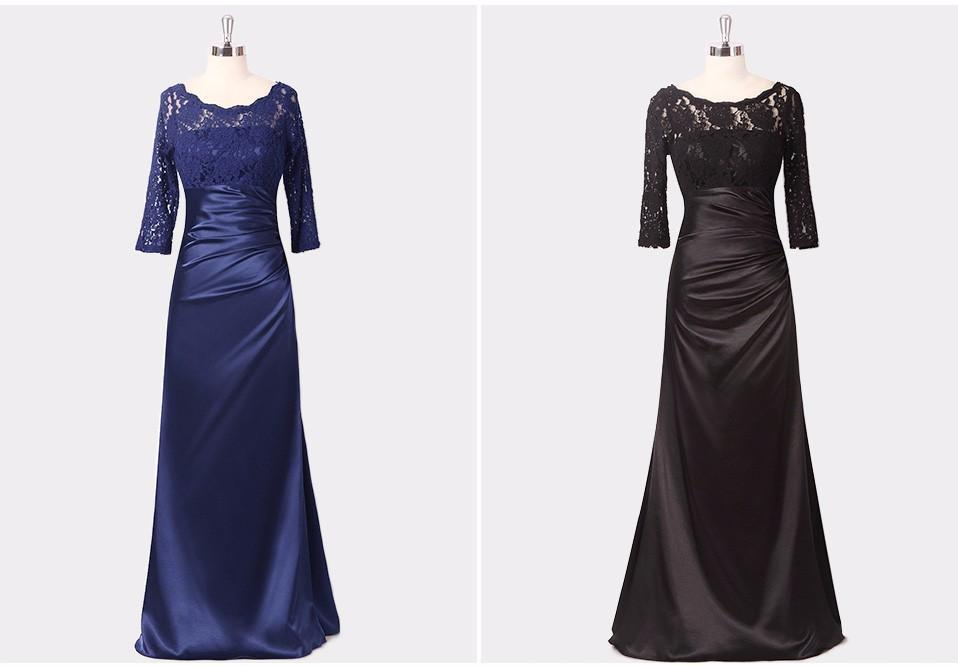 Shop Trumpet Mermaid 3 4 Sleeve Lace Satin Formal Party Evening ... 57425bb3f