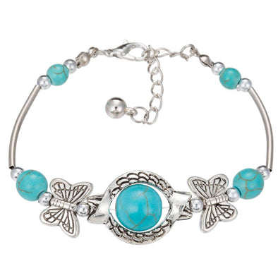 Vintage Charming Tibetan Silver Chain Butterfly Bracelet | TeresaClare