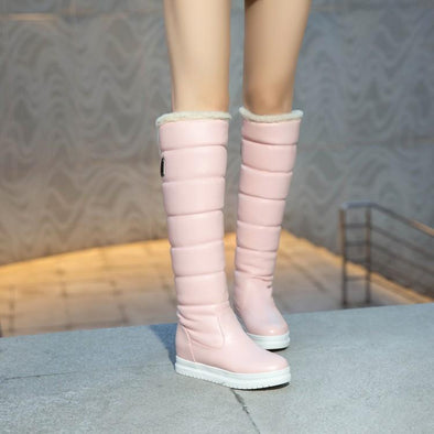 Warm Knee High Boots Round Toe Buckles Waterproof | TeresaClare
