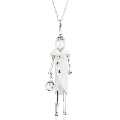 White Doll Black White Colors Long Necklaces & Pendant | TeresaClare