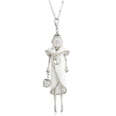 White Fashion Doll Necklace Cute Jewelry Long Chain | TeresaClare