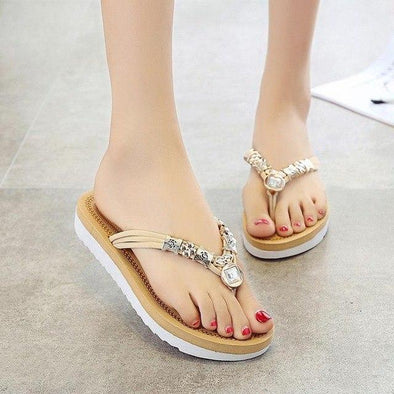 White Summer Out Splint Female Fashion Slippers | TeresaClare
