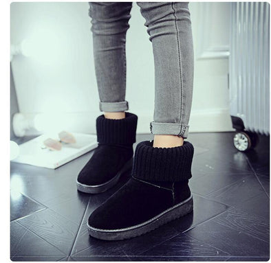 Winter Cotton Snow Ankle Boots Solid Platform Slip On | TeresaClare