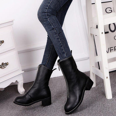 Winter Women Boots Zipper Boots PU | TeresaClare