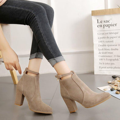 Women Ankle Solid European High Heel Boots | TeresaClare