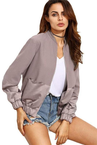 Women's Autumn Casual Color Block Pocket Jacket | TeresaClare