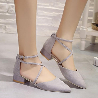 Women's Autumn Suede High-heeled Fashion Shallow Mouth Pumps | TeresaClare