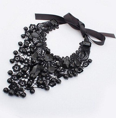 Women's Crystal Chain Collar Choker Bib Statement Necklace | TeresaClare