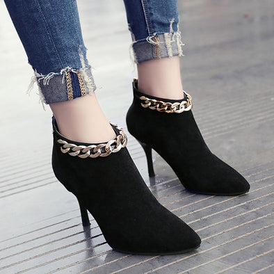 Women's High Heel Fashion Suede Ankle-Length Boots | TeresaClare