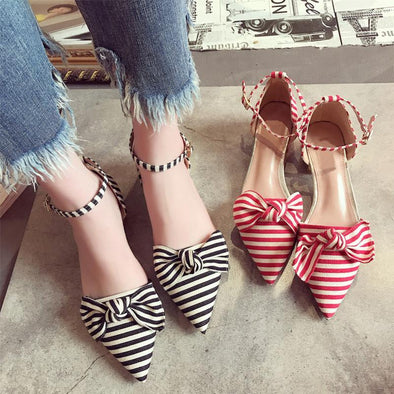 Women's Shoes New Heels Line Fashion Bow Pumps | TeresaClare