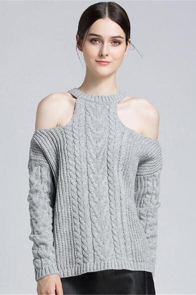 Women's Shoulder Off Sexy O-neck Pullover Sweater | TeresaClare