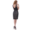 Women's Sleeveless V-Neck Cocktail Dress With Lace | TeresaClare
