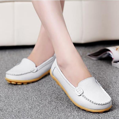 Women's Slip On Leather Flats Footwear Loafers | TeresaClare