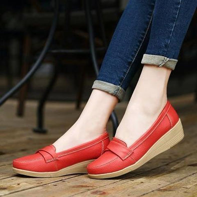 Women's Slip-On Leather Loafers Slip On Flats | TeresaClare