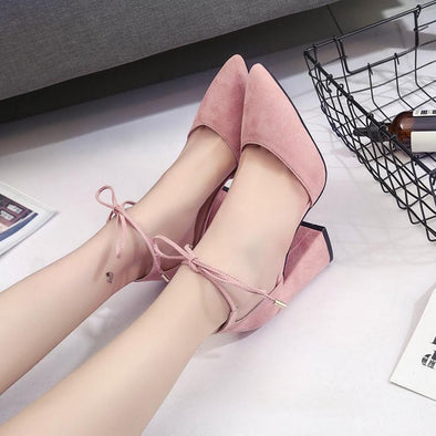 Women's Spring New High Heels Shoes Fashion Pointed Suede Pumps | TeresaClare