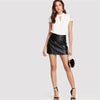 Workwear Elegant Office Lady Short Sleeve V Cut Blouse | TeresaClare