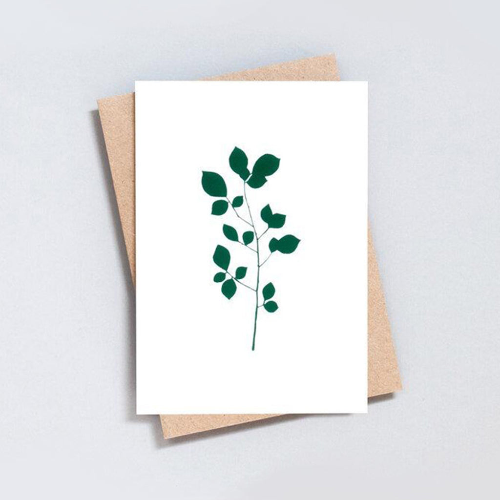 Foil Backed Cherry Greeting Card