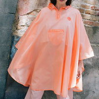 Orange Smile Poncho