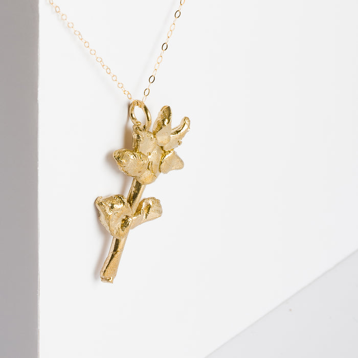 Brass Flower Necklace