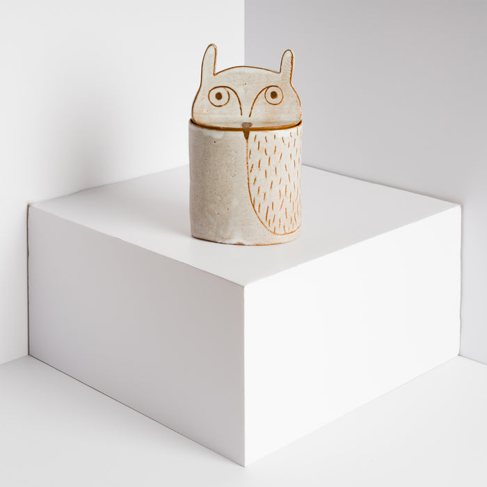Owl Ceramic Jar