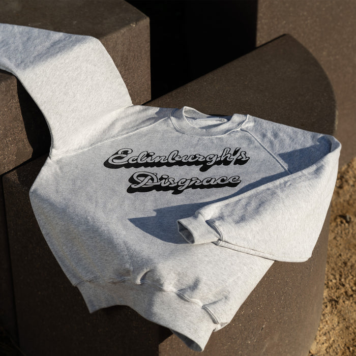 Edinburgh's Disgrace designed by Mick Peter Sweatshirt Grey for Collective Matter Artist Edition National Monument Calton Hill