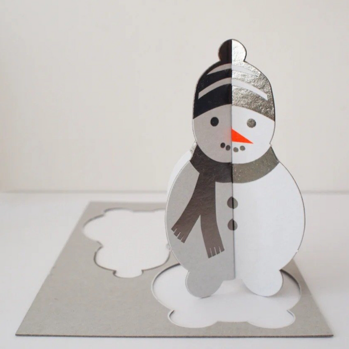 Pop Out Snowman Greetings Card