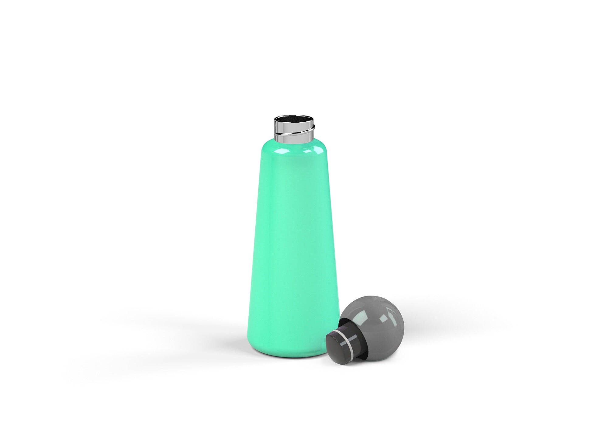 Skittle Water Bottle 500ml  - Turquoise and Dark Grey
