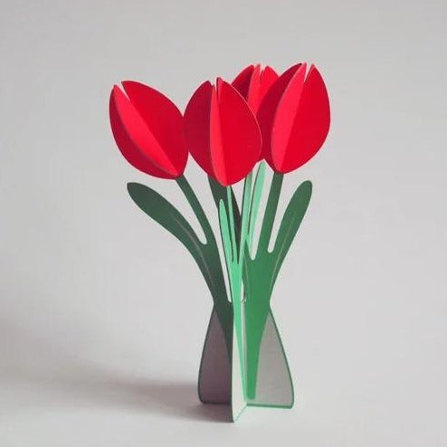 Pop Out Tulip Greetings Card