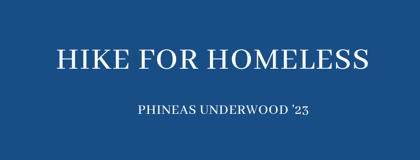 SE Spotlight: Hike for Homeless - Phineas Underwood '23 Wheaton College (MA)