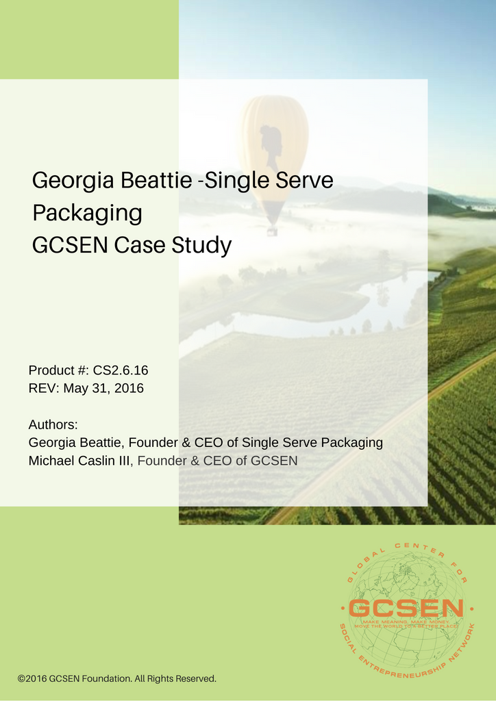 Case Studies - Georgia Beattie (Downloadable PDF)
