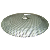 False Bottom Stainless Steel Domed - 12 in. Diameter