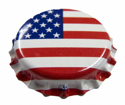 American Flag Oxygen Absorbing Crown Caps