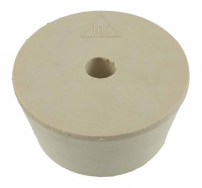 Drilled Rubber Stopper  #10.5