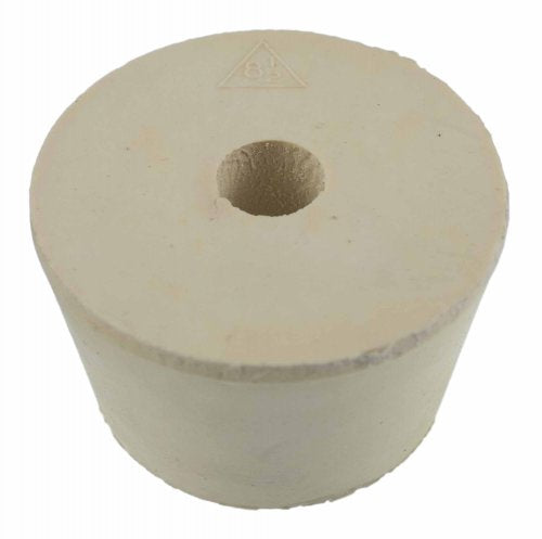 Drilled Rubber Stopper #8.5