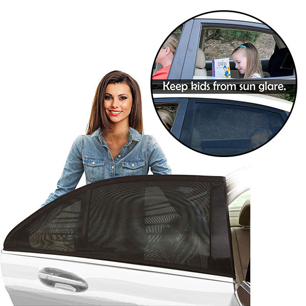 Set of 2 Universal Fit Car Rear Window Sun Shades