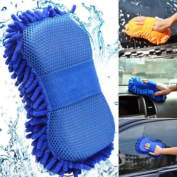 Microfiber Washing Gloves For Car Set Of 3 Pieces