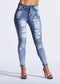 BANDIT RIPPED BIKER DENIM