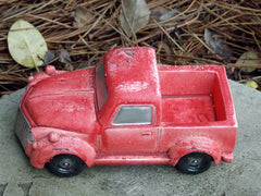 Miniature Old Fashioned Red Truck