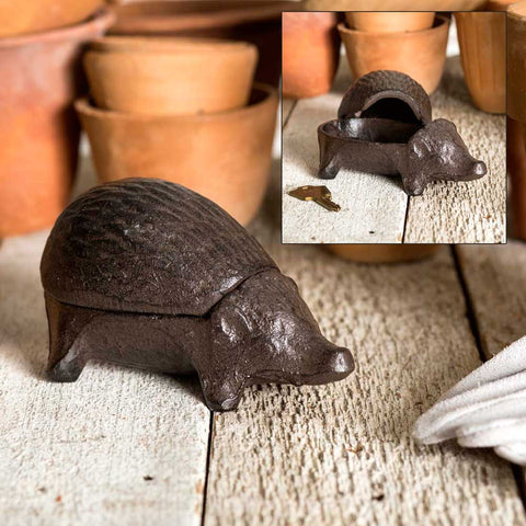 Hedgehog Trinket Box Spare Key Hider
