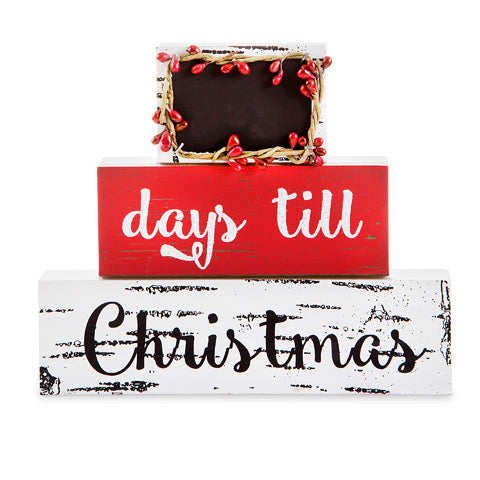Christmas Countdown Block Table or Shelf Sitter