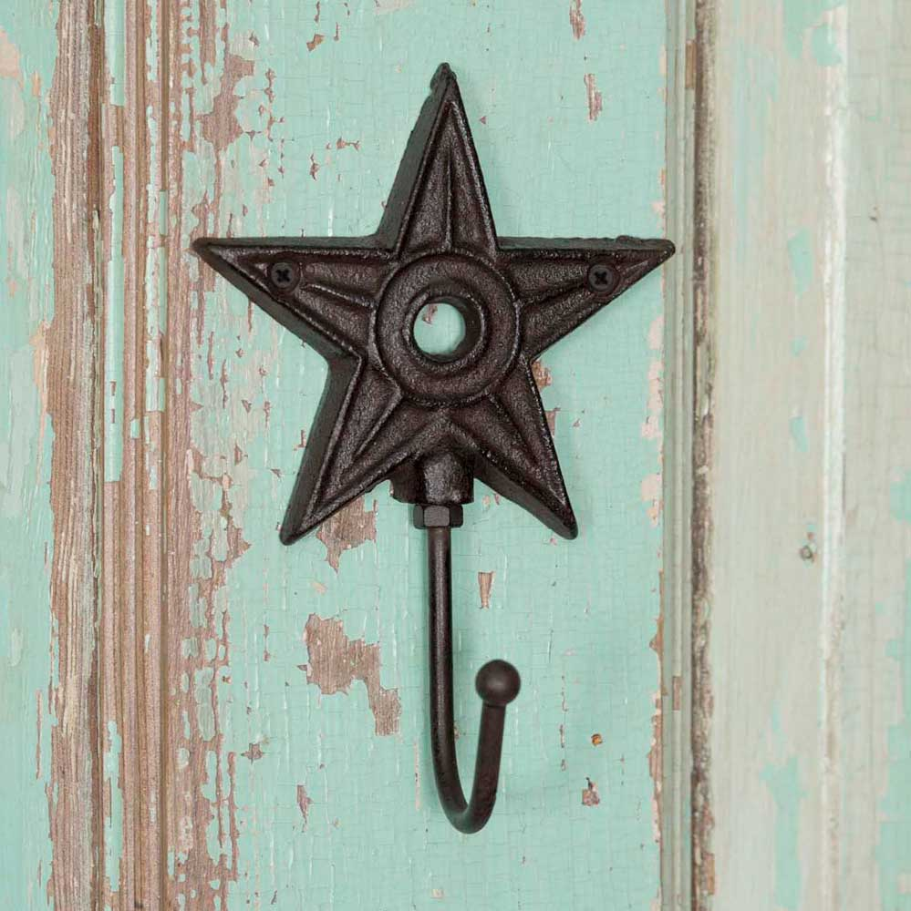 Architectural Star Cast Iron Wall Hook