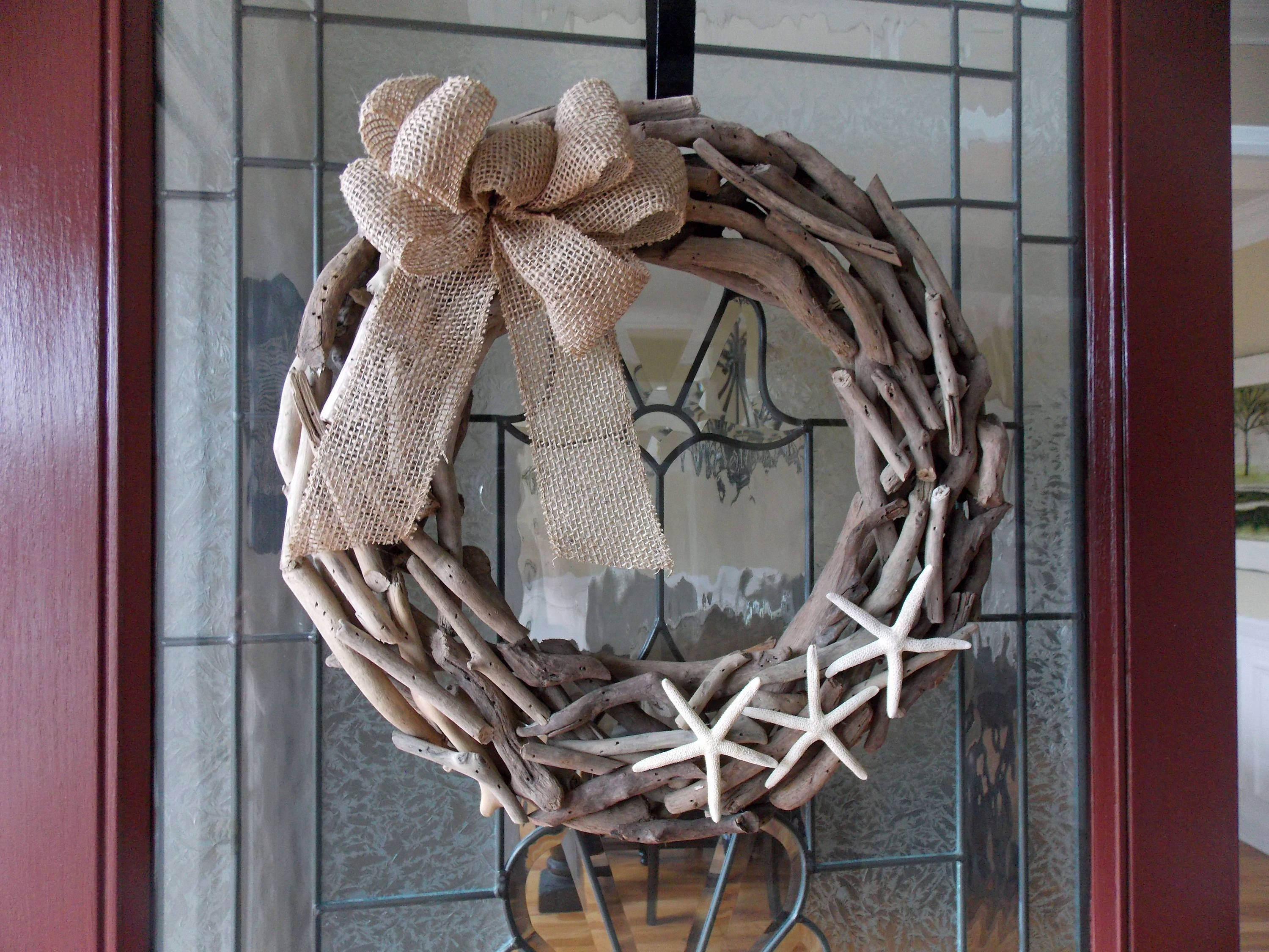 "19"" Driftwood Wreath-Starfish Wreath-Coastal Wreath-Beach Wreath-Seaside Wreath-Nautical Wreath-Beach Home Decor-Beach Decor-Summer Wreath"
