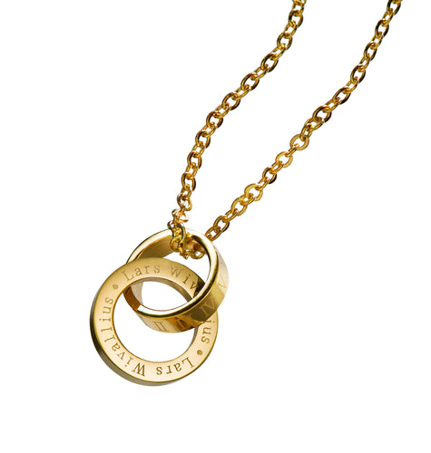 LW Gold Logo Necklace