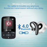 PRE-LOADED Clip Sport Bluetooth MP3 Player with Pedometer! Ultra-Small, Perfect for Running & Gym!