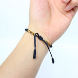 Lucky Knoted Bracelets - Handmade by Tibetan Buddhist Monks! - Deep Blue / Silver / Dark Green
