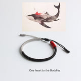 One's Heart Buddha Nature - Lucky Knot Bracelets - Handmade by Tibetan Buddhist Monks!