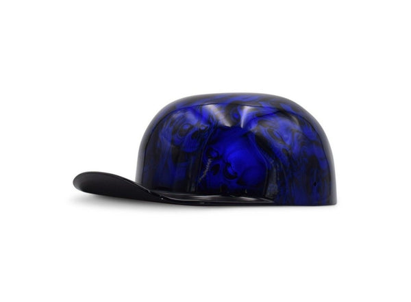 "Candy Blue ""Hear No Evil"" Black Brim DoughBoy Lid"