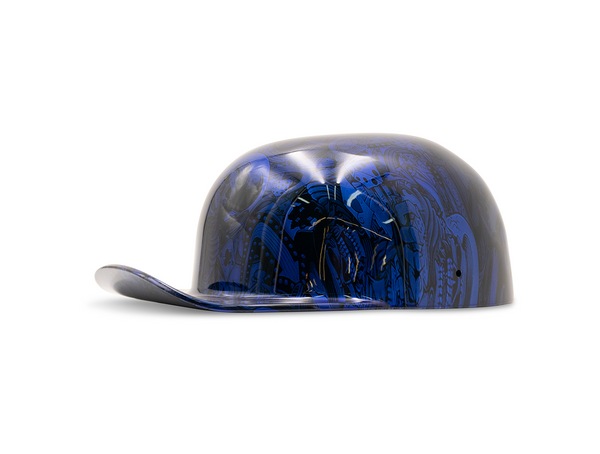 "Candy Blue ""Gambler"" DoughBoy Novelty Motorcycle Lid"