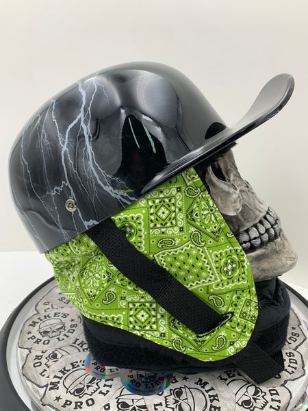 Green Paisley Winter Novelty Helmet Liner