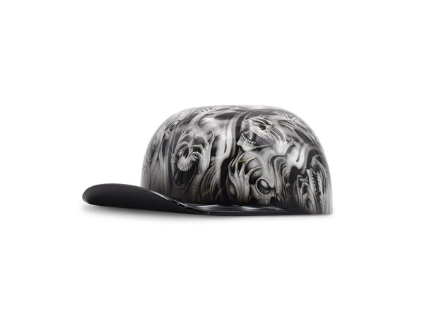 "White ""Hear No Evil"" Black Brim DoughBoy Lid"